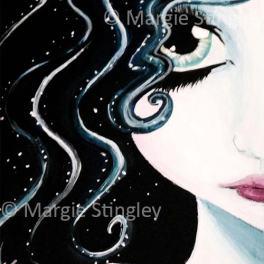 "Water Fairy 2014 - 5"" x 7"" Acrylic on wood panel"