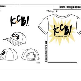 Final T-shirt and hat design