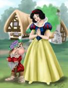 Snow White and Grumpy