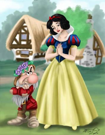 Snow White and Grumpy