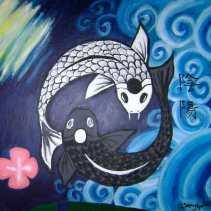"Balance 2012 - 12"" x 16"" Acrylic on art board"