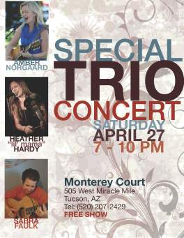 Poster for concert held in April 2013