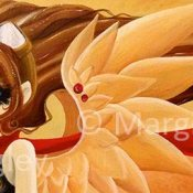 "Steampunk Angel 2014 - 10"" x 30"" Acrylic on canvas"