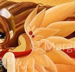 """Steampunk Angel 2014 - 10"""" x 30"""" Acrylic on canvas"""