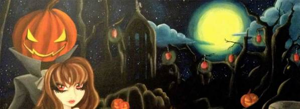 Hallow's Eve 2014 - 15 x 40 acrylic on canvas