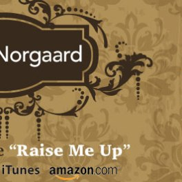 "Facebook banner for ""Raise Me Up"" single release"