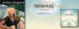 "Facebook banner for ""Together We Rise"" single release"